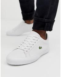 Sneakers basse di tela bianche di Lacoste