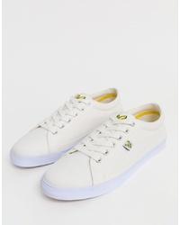 Sneakers basse di tela bianche di Lyle & Scott