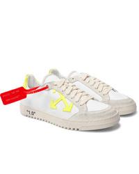 Sneakers basse di tela bianche di Off-White