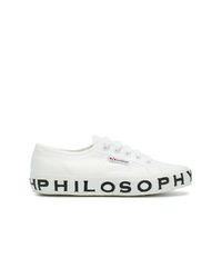 Sneakers basse di tela bianche di Philosophy di Lorenzo Serafini