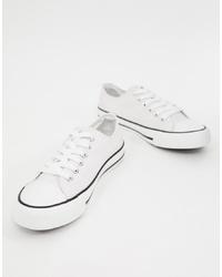 Sneakers basse di tela bianche di XTI