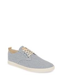 Sneakers basse di tela blu scuro e bianche