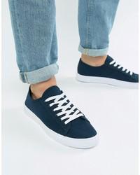 Sneakers basse di tela blu scuro di ASOS DESIGN