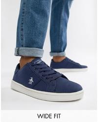 Sneakers basse di tela blu scuro di Original Penguin