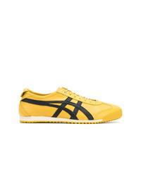 Sneakers basse di tela gialle