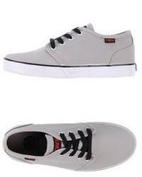 Sneakers basse di tela grigie