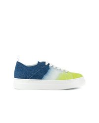 Sneakers basse di tela multicolori di MSGM