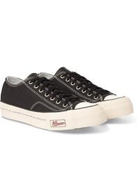 Sneakers basse di tela nere e bianche di VISVIM