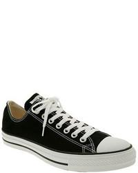 Sneakers basse di tela nere