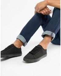 Sneakers basse di tela nere di ASOS DESIGN