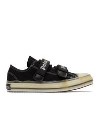 Sneakers basse di tela nere di Palm Angels