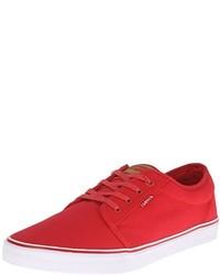 Sneakers basse di tela rosse