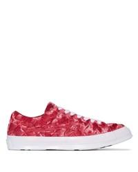 Sneakers basse di tela rosse di Converse