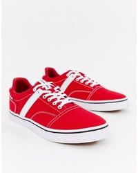 Sneakers basse di tela rosse di Jack & Jones