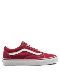 Sneakers basse di tela rosse di Vans