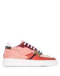 Sneakers basse di tela stampate rosa di By Walid