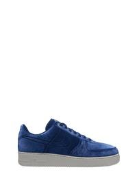 Sneakers basse di velluto blu scuro