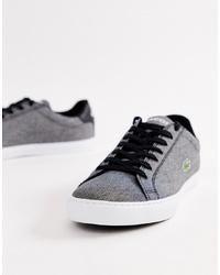 Sneakers basse grigio scuro di Lacoste