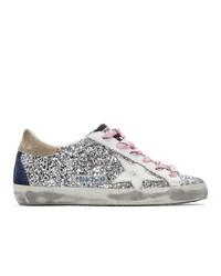 Sneakers basse in pelle argento di Golden Goose