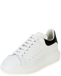 Sneakers basse in pelle bianche e nere