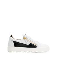 Sneakers basse in pelle bianche e nere di Giuseppe Zanotti Design