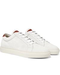 Sneakers basse in pelle bianche di Brunello Cucinelli