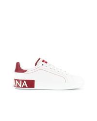 Sneakers basse in pelle bianche di Dolce & Gabbana