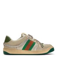 Sneakers basse in pelle bianche di Gucci