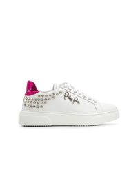 Sneakers basse in pelle bianche di Philipp Plein