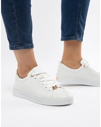 Sneakers basse in pelle bianche di Ted Baker
