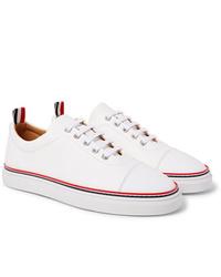 Sneakers basse in pelle bianche di Thom Browne