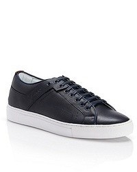 Sneakers basse in pelle blu scuro