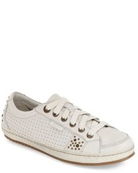 Sneakers basse in pelle decorate bianche