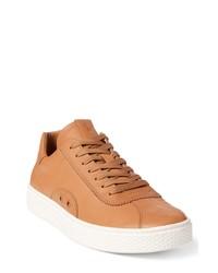 Sneakers basse in pelle marrone chiaro