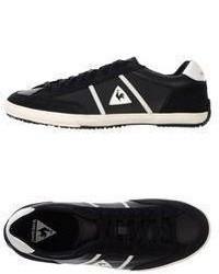 Sneakers basse in pelle nere e bianche