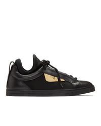 Sneakers basse in pelle nere di Fendi