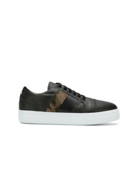 Sneakers basse in pelle nere di Neil Barrett