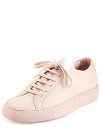 Sneakers basse in pelle rosa