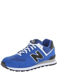 Sneakers basse in pelle scamosciata blu