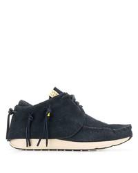 Sneakers basse in pelle scamosciata blu scuro di VISVIM