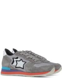 Sneakers basse in pelle scamosciata grigie