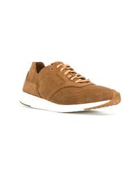 Sneakers basse in pelle scamosciata marrone chiaro di Cole Haan