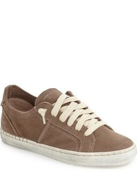 Sneakers basse in pelle scamosciata marroni