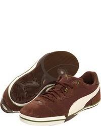 Sneakers basse in pelle scamosciata marroni