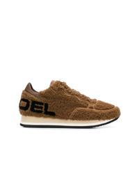Sneakers basse in pelle scamosciata marroni di Philippe Model