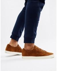 Sneakers basse in pelle scamosciata marroni di Polo Ralph Lauren