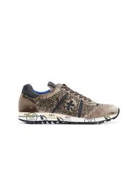 Sneakers basse in pelle scamosciata marroni di Premiata