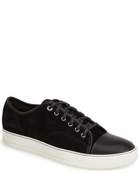 Sneakers basse in pelle scamosciata nere