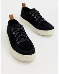 Sneakers basse in pelle scamosciata nere di Toms