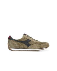 Sneakers basse in pelle scamosciata verde oliva di Diadora
